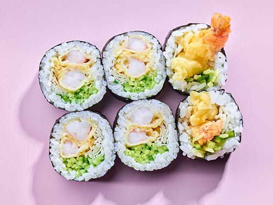 Futomaki krewetka tempura-Chrupiąca uczta